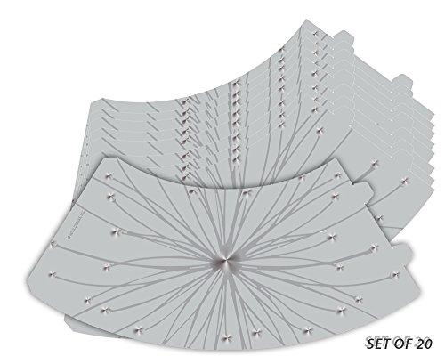 OKSLO Royal designs star burst silhouette vellum paper wine glass tea light - Vellum Stars