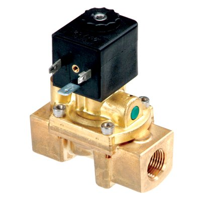 1/2inch NPT/12.5mm Air-Sol Brass 2-Way Process Solenoid Valve with 24 VDC by Canfield Industries