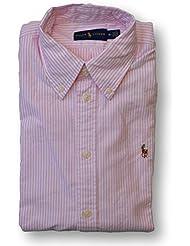 Polo Ralph Lauren Womens Classic Fit Oxford Button Down Shirt, Pink Mu, Medium
