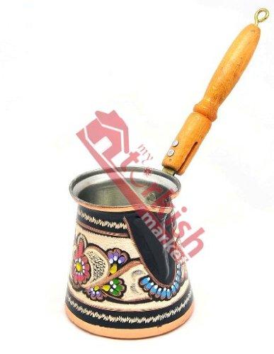 Decorated Copper Turkish Coffee Pot - MEDIUM My Turkish Market CP024