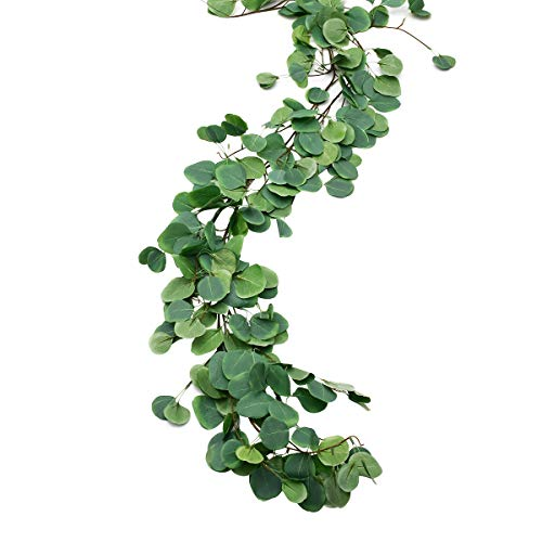 - Sunm boutique 2pcs Artificial Hanging Eucalyptus Leaves Vines Eucalyptus Plant Leaves Garland String in Green Indoor Outdoor Wedding Decor Jungle Party Greenery Crowns Wreath