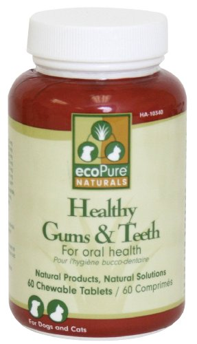 ecoPure Healthy Gums and Teeth Chewable Tablets, 60 ct, My Pet Supplies