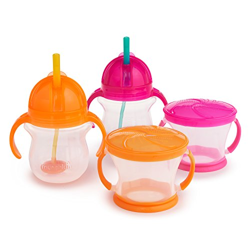 Munchkin Happy Snacker Snack Catcher and Sippy Cup Set, 4...