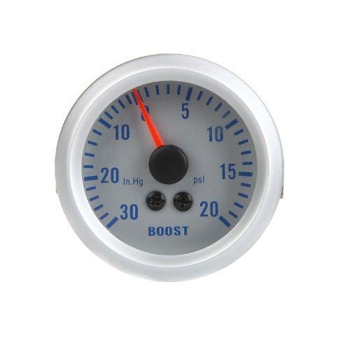 Docooler Turbo Boost / Vacuum Gauge Meter for Auto Car 2 52mm 0~30in.Hg / 0~20PSI Orange Light With Single Gauge Meter Pod Holder K1036
