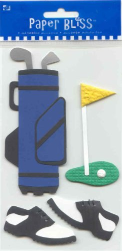 Paper Bliss 3 Dimensional Adhesive Accent Stickers Golf Theme $3.99 ()