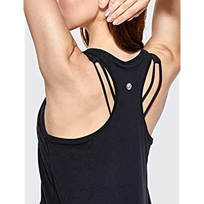 CRZ YOGA Women's Lightweight Pima Cotton Workout Tank Tops-Soft Racerback Athletic Yoga Tanks at Women's Clothing store