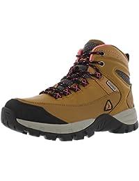 Forestier Women's Waterproof Hiking Mid-Cut Camel/Pink Boots