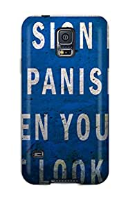 Ultra Slim Fit Hard StephenThomas Case Cover Specially Made For Galaxy S5- Funny This Sign Is In Spanish
