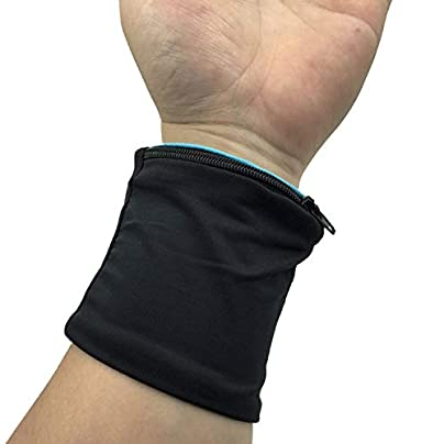 Breathable Zipper Support Wristbands Wrist Wallet Pouch Band Fleece Wrist Support Brace Wraps Guards For Gym Estimated Price £8.29 -