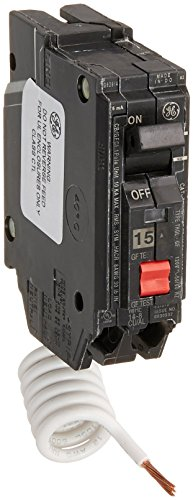 GE Energy Industrial Solutions TV206462 GE 15A SP GFCI Breaker (Ge Pole Circuit Breaker Single)
