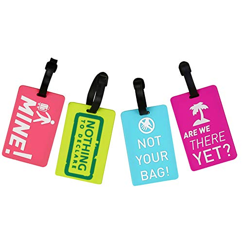 Travel Luggage Tags for Suitcase Labels ID Tags for Backpack Set of 4