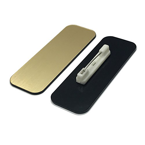 Name Tag / Badge Blanks - 25 Pack - Brushed Gold 1