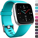 Ouwegaga for Fitbit Versa Bands, for Fitbit Versa Straps Sport Wristbands for Women Men Small Teal