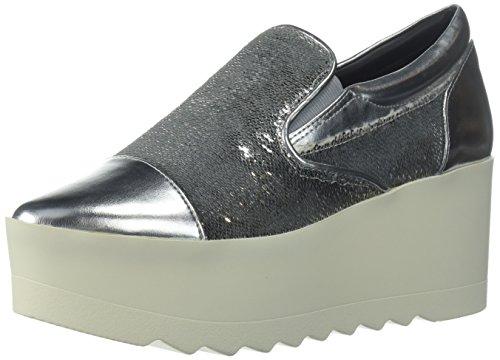 KENDALL + KYLIE Women's Tanya Sneaker, Silver, 6 Medium US by KENDALL + KYLIE