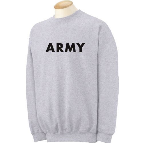 ARMY Crewneck Sweatshirt in Gray at Amazon Men's Clothing store ...