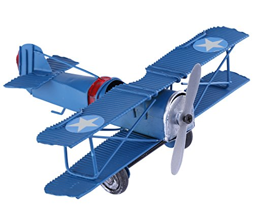 Berry President(TM Vintage Retro Wrought Metal Iron Biplane Plane Aircraft Handicraft Models - Photo Props home Decor/ornament/souvenir ()