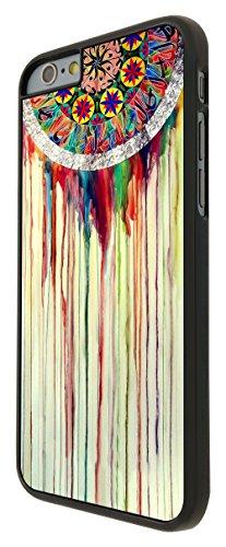 598 - WaterColour Dream Catcher Eastern Lucky Sharm Cool Design iphone 6 Plus / iphone 6 Plus 5.5'' Coque Fashion Trend Case Coque Protection Cover plastique et métal - Noir