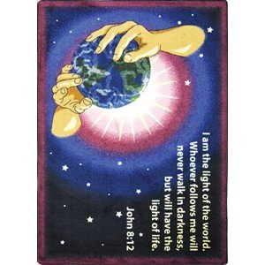Faith Based I Am The Light Kids Rug Rug Size: 3'10'' x 5'4'' by Joy Carpets