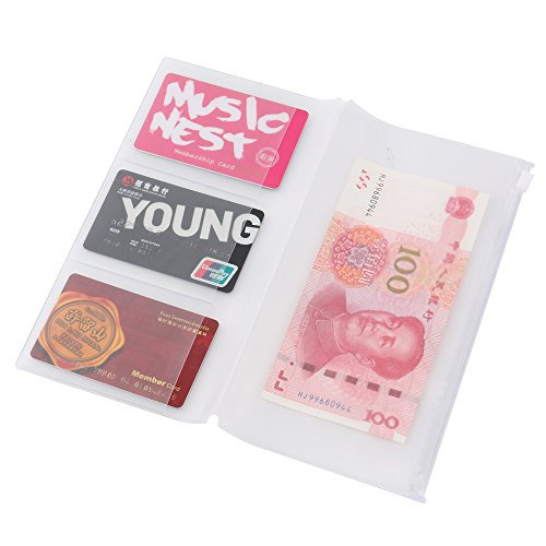 Traveler's Notebook Inserts Refill Standard Size,A Set of 3 Made of Transparent Plastic with 3 Card Slots