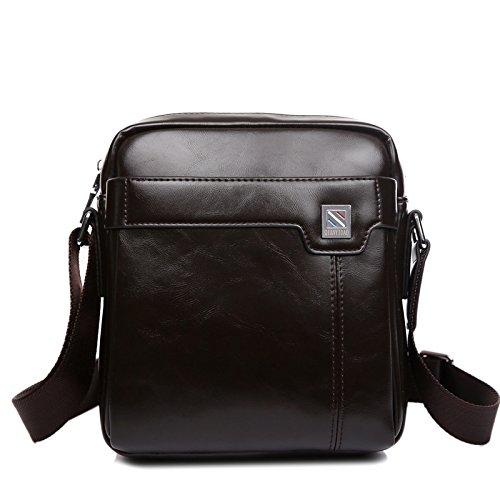 Brown stb Bag Hombro Bolso Los Dark Moda Hombres ZL Messenger De De Vertical THw7pqTxd
