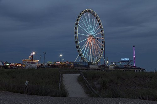 Photograph| The Steel Pier on the boardwalk in Atlantic City, New Jersey 3 Fine Art Photo Reproduction 24in x 16in