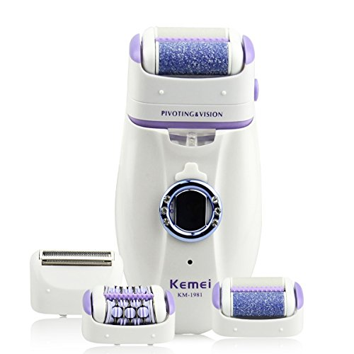 Bienna-Women-Epilator-Shaver-Callus-Remover-3-in-1-RechargeableWaterproof-HeadElectric-Cordless-Razor-Trimmer-Hair-Removal-w-LED-Light-for-Bikini-Body-Facial-Hair-and-Dry-Dead-Feet