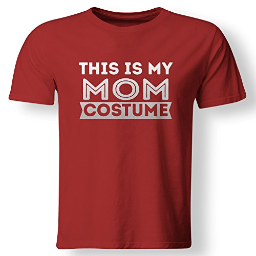[This Is My Mom Costume Lazy Halloween Mother T Shirt Red XXX-Large] (Mom Dad And Child Halloween Costumes)