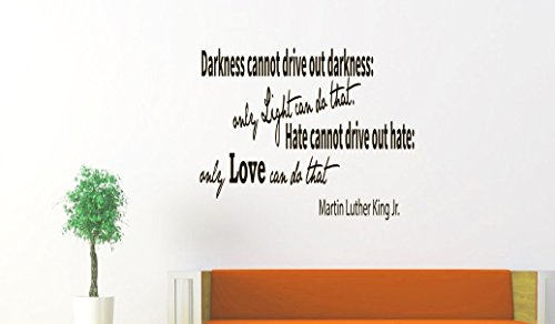 Wall Decal Quote Darkness Cannot Drive Out Darkness Words Decal Mural Vinyl Lettering Sticker - Drive Mural