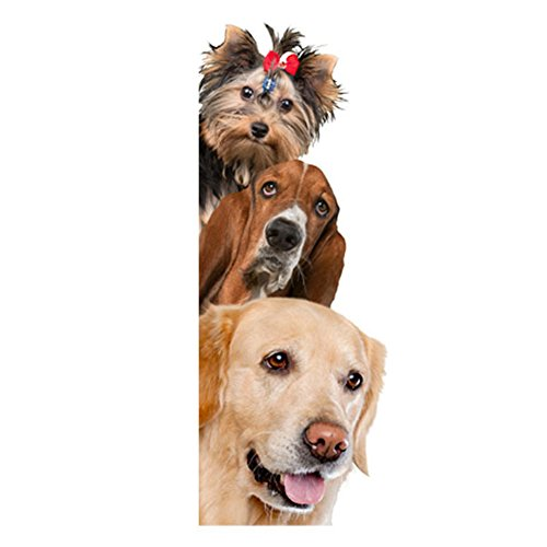 Removable 3D Cute Dog Cat Wall Sticker Switch Decal Mural Art Decor Poster Background Wallpaper (2#)