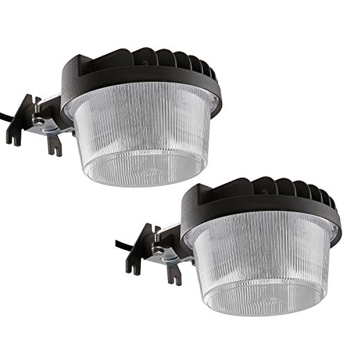 TORCHSTAR 2 Pack Dusk-to-Dawn LED Outdoor Barn Light, 40W (300W Equiv.), 4800lm Ultra-Bright Area Light, 5000K Daylight, DLC ETL-Listed Yard Floodlight, 5-Year Warranty