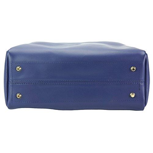pelle jeans in Borse da borse Blu donna Eleonora 8051 Borsa IwqxF6P6