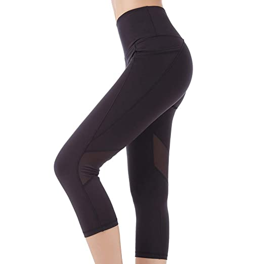 e35e15afee4d33 SEYO Sport Leggings Damen Yogahose Leggins Hoher Bund Sporthose Blickdicht  Leggings 3/4 und Lang Tasche Fitnesshose: Amazon.de: Bekleidung