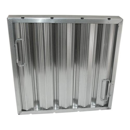 Generic 262262 Baffle-Type Grease Filter W/Handles Aluminum 16'' X 16'' X 2'' Seamless