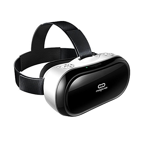Magicsee-M1-VR-all-in-One-Virtual-Reality-Headset-3D-VR-Glasses-PCGame-Android-51-HDMI-19201080-HD-2G16G-360-Viewing-Immersive-support-Wifi-24G-Bluetooth-with-TF-Card-Controller