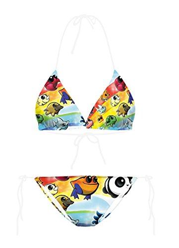 THENICE Mujer Bikini Conjuntos Benthic fauna