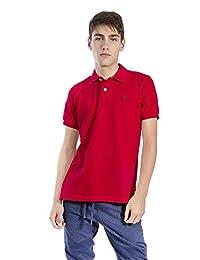 Camisa Polo para Hombre Hang Ten Piqué Rojo b4edfacb7a0eb