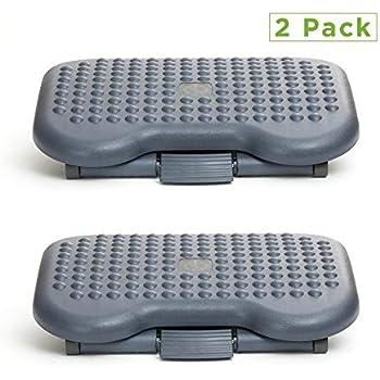 Mind Reader 2FTREST-BLK 2 Pack Adjustable Height Ergonomic Foot Rest, Black