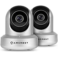 2-Pack Amcrest ProHD 1080P WiFi Wireless IP Security Camera - 1080P (1920TVL), IP2M-841 (Silver)