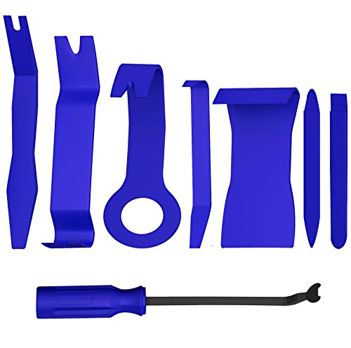 Advgears 8 Pcs Auto Trim Removal Tool Kit for Car Audio Dash Door Panel Window Molding Premium Fastener Remover Tools - Clips Molding Automotive