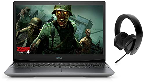 Dell G5 Gaming 5505 15.6″ FHD 120 Hz Display Laptop (R5 4600H/8GB/512 SSD/RX 5600M 6GB/Win 10/Silver) + Alienware Stereo Gaming Headset 310H, AW310H