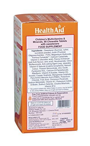 HealthAid Children's MultiVitamins and Minerals - 90 Chewable Tablets