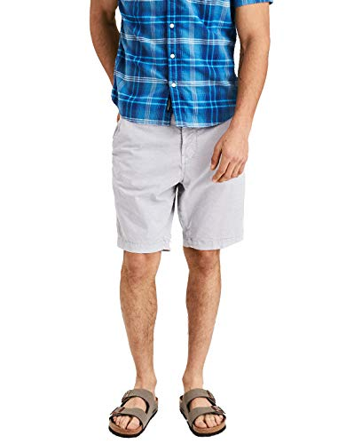 - American Eagle Mens 41336498 Next Level Flex Classic at The Knee Gray Shorts (30)