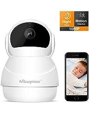 Überwachungskamera mit bewegungserkennung, 1080p WLAN IP Kamera, Überwachungskamera mit Nachtsicht, Bewegungserkennung, Auto-Rotation, 2 Wege Audio, Haus Monitor Baby Monitor, App IOS/Android/PC