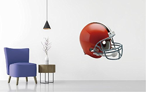 Football Team Helmet - Professional Football Wall Decal (Wide 20'' x 17'' Height)