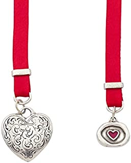 product image for DANFORTH - Love Story Bookmark - Pewter - Red Satin Ribbon - 14 Inches Long - Gift Boxed - Made in The USA