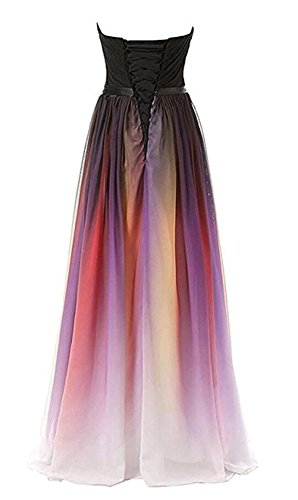 Gradient Prom Dresses Party MALL Line BRL Gradient A Chiffon Gowns B Long Women's RSPI88qX