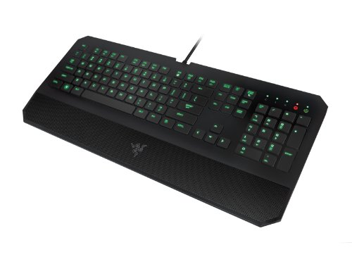 Razer DeathStalker Essential Gaming Keyboard - Ergonomic Gaming-Grade Membrane Keyboard With Wrist-Rest