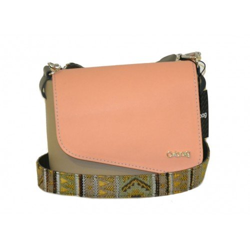 beige bag Amazon borsa pattina e tracolla O rosa it pocket con O HIfnFf