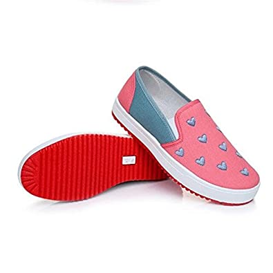 56a96856dd1c Women s Slip On Casual Sneakers Comfortable Flat Loafers Trendy Design Shoes  (4