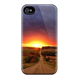 Iphone 4/4s Sunset 13 Print High Quality Tpu Gel Frame Case Cover